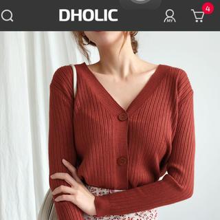 dholic - ディーホリックリブニットカーディガン