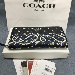 COACH - COACH コーチ 長財布  F59063 バタフライバンダナ Black