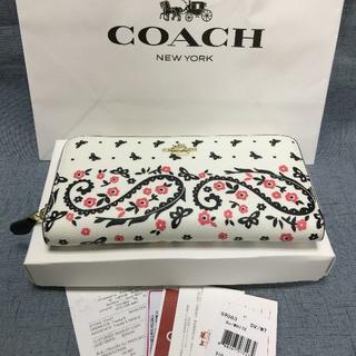 COACH - COACH コーチ 長財布  F59063 バタフライバンダナ ホワイト