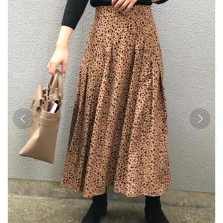 カプリシューレマージュ(CAPRICIEUX LE'MAGE)のロングスカート ダルメシアン  ブラック(ロングスカート)