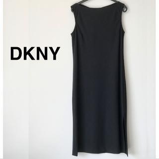 ダナキャランニューヨーク(DKNY)の美品☆DKNY ウールワンピース/4/グレー(ひざ丈ワンピース)