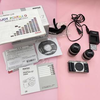 PENTAX - PENTAX Q7 Wズームキット SILVER デジカメ カメラ ミラーレス