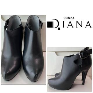 DIANA - ダイアナ ブラックレザー ブーティ