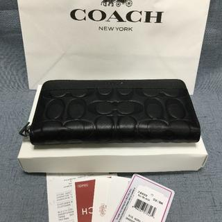 COACH - 新品 コーチ COACH 長財布 F74999 BLACK