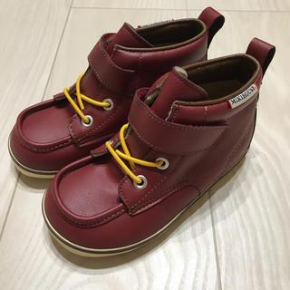 ミキハウス(mikihouse)の現行品!新品未使用♡ミキハウス合成皮革編み上げブーツ靴16cm卒業式入園式にも♡(ブーツ)