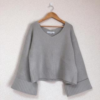 MERCURYDUO - ●マーキュリーデュオ 袖広ゆったりニット セーター MERCURYDUO●