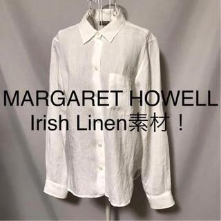 MARGARET HOWELL - ★MARGARET HOWELL/マーガレットハウエル★長袖リネンブラウスⅡ.M