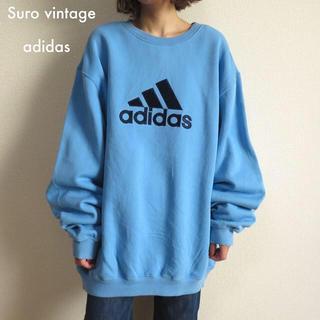 アディダス(adidas)のアディダス 刺繍ロゴ ビッグスウェット トレーナー 古着女子 vintage(トレーナー/スウェット)