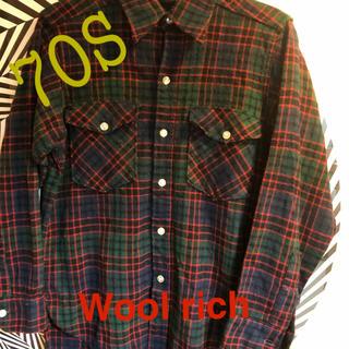 ウールリッチ(WOOLRICH)のWool rich  70S  Woolシャツ(シャツ)