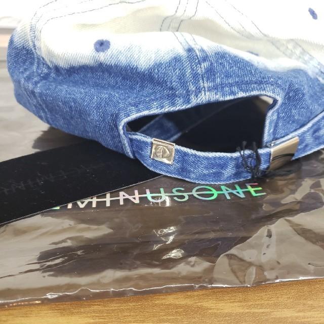 PEACEMINUSONE(ピースマイナスワン)のPMO DENIM BLEACH CAP #1 BLUE メンズの帽子(キャップ)の商品写真