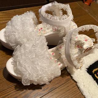 ロディスポット(LODISPOTTO)のmille fille closet♡フリルサンダル(サンダル)