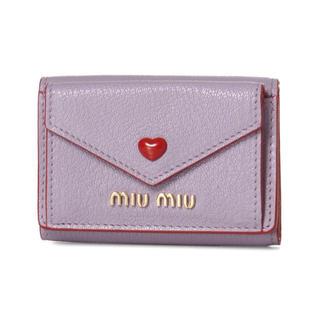 miumiu - ❤️【新品】miumiu マドラス ラブ 三つ折り 財布 パープル