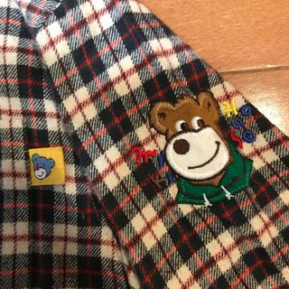 mikihouse - 【美品】miki house ミキハウス   チェックシャツ 120センチ クマ