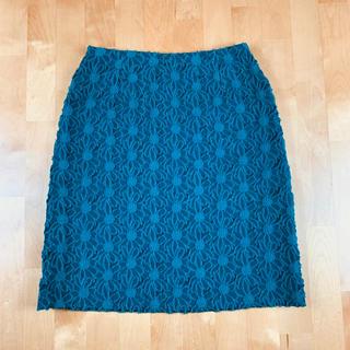 アナイ(ANAYI)のANAYI アナイ 花柄スカート 総柄 グリーン 38サイズ(ひざ丈スカート)