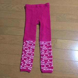 エックスガール(X-girl)のx-girl  ピンク ロゴ タイツ 110〜120cm サイズ表記 L(パンツ/スパッツ)