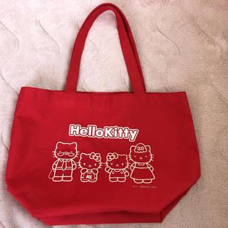 ハローキティ(ハローキティ)のトートバッグ 赤色 ハローキティ Hellokitty レジ袋有料化(トートバッグ)