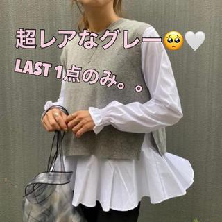 ZARA - ニットベスト グレーセット 取り外し可 zara ナルシス 韓国ファッション