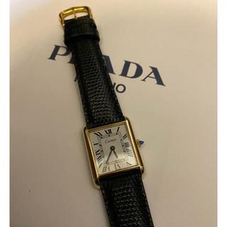 Cartier - カルティエ マストタンク LM ホワイトローマ  手巻き