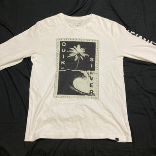 クイックシルバー(QUIKSILVER)の【クイックシルバー】ロングTシャツ ホワイト(Tシャツ/カットソー(七分/長袖))