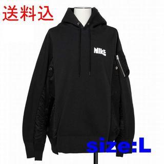 sacai - L 黒 Nike x sacai Hoodie サカイ ナイキ フーディー
