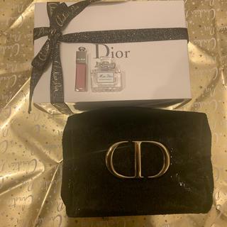 Dior - Dior【クリスマス限定ポーチ】ミニ香水ミニリップ付