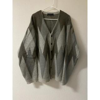 アンユーズド(UNUSED)のUNUSED  19AW argyle knit cardigan カーディガン(カーディガン)