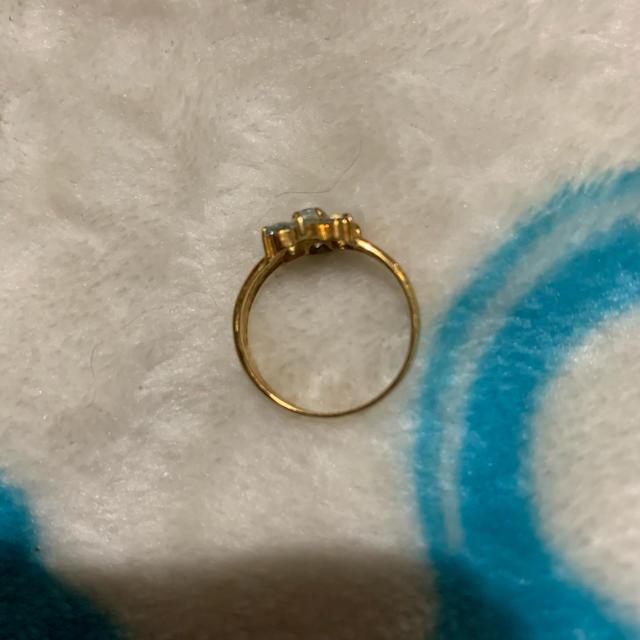 アクアマリンリング 13号 K18   最終価格 レディースのアクセサリー(リング(指輪))の商品写真