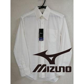 ミズノ(MIZUNO)のミズノ アイスタッチ ワイシャツ 美品 白 メンズ M 長袖 ビジネス(シャツ)