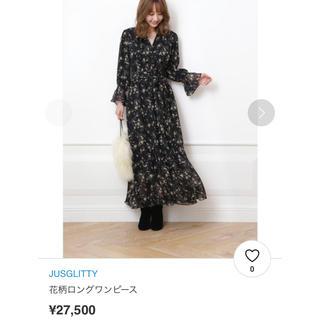 JUSGLITTY - ジャスグリッティー 花柄ロングワンピース サイズ1