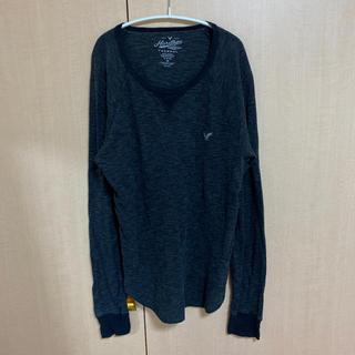 ホリスター(Hollister)のホリスター メンズ ロンT Tシャツ グレー(Tシャツ(長袖/七分))