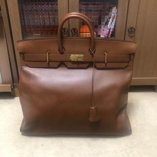 エルメス(Hermes)の極美品 エルメス オータクロア50 アルデンヌ マロンフォンセ ゴールド金具(ボストンバッグ)