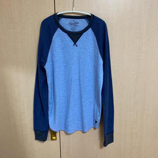 ホリスター(Hollister)のホリスター メンズ ロンT Tシャツ 水色 ブルー(Tシャツ/カットソー(七分/長袖))