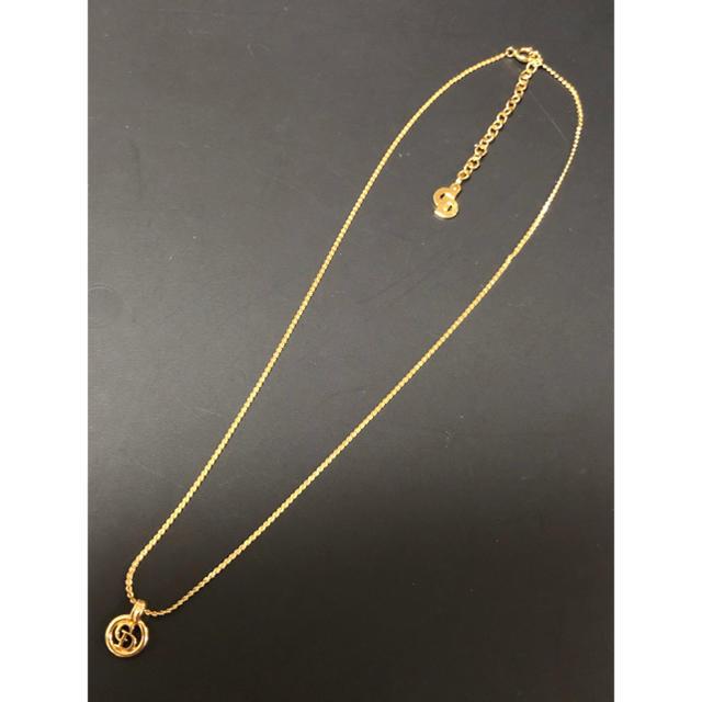 Christian Dior(クリスチャンディオール)のクリスチャンディオール ヴィンテージ ロゴ ネックレス 値下げ レディースのアクセサリー(ネックレス)の商品写真