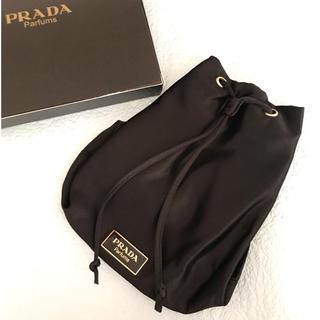 PRADA - PRADA  プラダ パルファム プレート付き 巾着バッグ 未使用 7-20