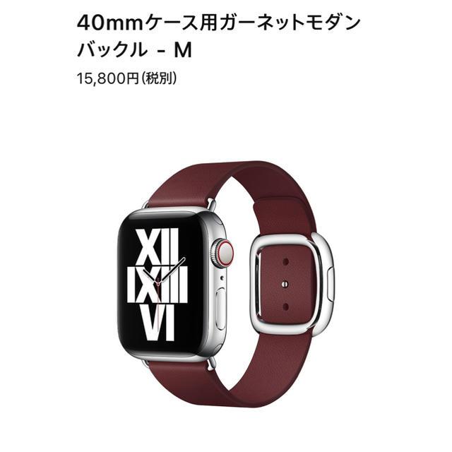 Apple(アップル)のApple 純正 Apple Watch 40mm レザー ベルト メンズの時計(レザーベルト)の商品写真