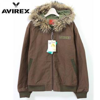 AVIREX -  《アヴィレックス》新品 ジップアップ ブルゾン パーカー ファー取外し可  M
