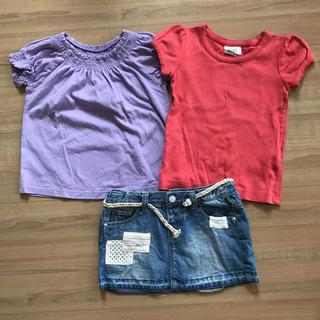 ZARA KIDS - ベビーギャップ ザラ ミニボーデン Tシャツ&デニムスカート 100 3T