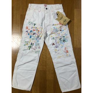 デニムダンガリー(DENIM DUNGAREE)のデニムダンガリー  刺繍白パンツ 140(パンツ/スパッツ)