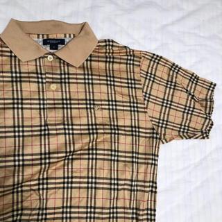 バーバリー(BURBERRY)のBurberry バーバリー ポロシャツ チェック メンズ レディース 古着(ポロシャツ)