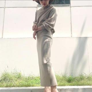 ジェイダ(GYDA)のGYDA ボトルネックニットTOPS & スリットタイトスカート(ロングスカート)