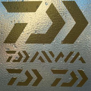 DAIWA - ダイワ カッティングステッカー ゴールド 超防水 4枚セット
