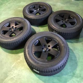 ジープ(Jeep)の美品 バリ山 JEEP WRANGLER 純正 ホイール スタッドレス タイヤ(タイヤ・ホイールセット)