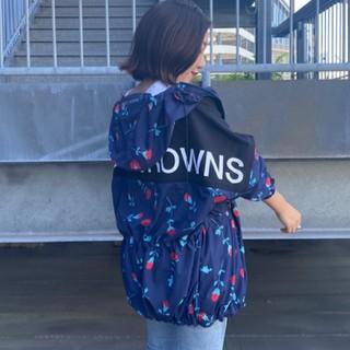 ロデオクラウンズワイドボウル(RODEO CROWNS WIDE BOWL)の新品 柄ネイビー(男女兼用)早い者勝ちノーコメント即決しましょう❗️買おう♪(ナイロンジャケット)