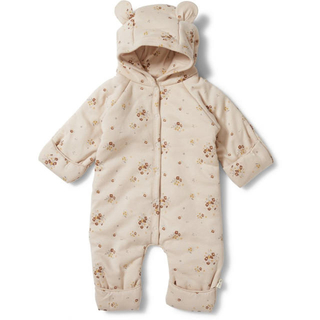 【Konges Slojd】NEW BORN ONESIE with HOOD