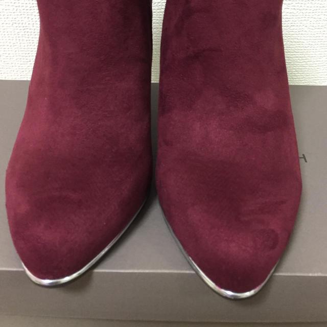 JELLY BEANS(ジェリービーンズ)のワインスエード  ブーティ レディースの靴/シューズ(ブーティ)の商品写真