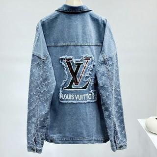 LOUIS VUITTON - ジャカードロゴ入りブルーデニムジャケット