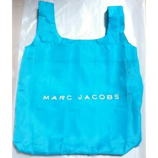 MARC JACOBS - エコバッグ マークジェイコブス ポケッタブルバッグ青折り畳み カラビナ付 ブルー