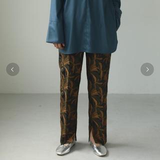 TODAYFUL - todayful  ジャガードスリットパンツ 柄パンツ