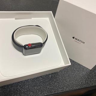 アップルウォッチ(Apple Watch)のApple Watch series3  38mm ステンレス スペースグレイ(腕時計(デジタル))