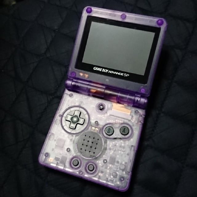 ゲームボーイアドバンス(ゲームボーイアドバンス)のゲームボーイアドバンスSP クリアパープル エンタメ/ホビーのゲームソフト/ゲーム機本体(携帯用ゲーム機本体)の商品写真